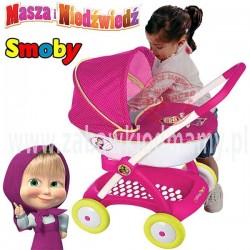 SMOBY Wózek głęboki dla lalki Gondola Masza i Niedźwiedź