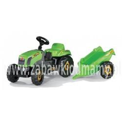 Rolly Toys Traktor Kid Zielony z Przyczepą