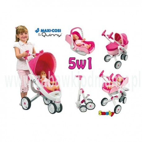 SMOBY Wózek Gondola 5w1 MAXI COSI QUINNY