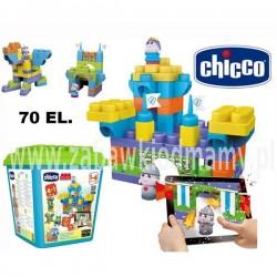 CHICCO Klocki Zamek z aplikacją mobilną 70 elementów
