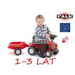 FALK Jeździk Traktor POWER MASTER przycz. czerwony
