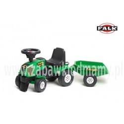 FALK Jeździk Traktor POWER MASTER przycz. zielony