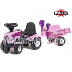 FALK Jeździk Traktor Princess + przyczepa