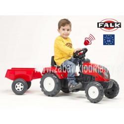 FALK Traktor RANCH TRAC przyczepa czerwony 2-4 l