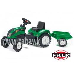 FALK Traktor RANCH z Przyczepą Zielony