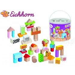 EICHHORN Klocki Kolorowe Drewniane 50 el.+ Sorter