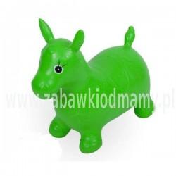 Osiołek do skakania - pompowany zielony NOVA