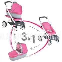 SMOBY Wózek dla lalek 3w1 MAXI COSI QUINNY
