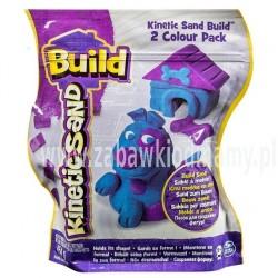Kinetic Sand Build piasek konstrukcyjny 2 kolory purpura-niebieski 454g