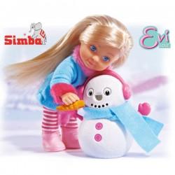 SIMBA Lalka Evi z Bałwankiem