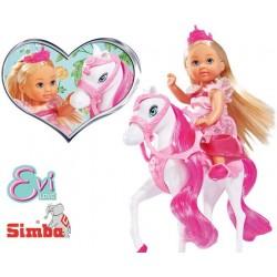 SIMBA Lalka Evi Królowa na Koniu