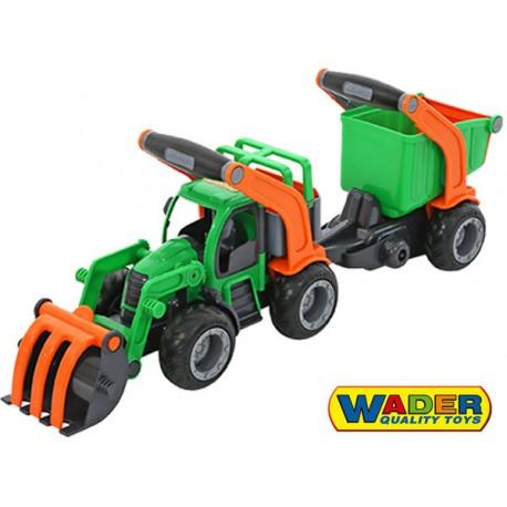Wader QT Grip Truck Traktor Ładowarka z Naczepą