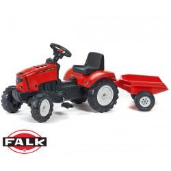 FALK Traktor LANDER Przycz. Otw. Mask. Czerw.