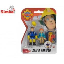 SIMBA Strażak Sam 2 Figurki Sam & Norman