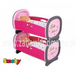 SMOBY Łóżeczko Baby Nurse dla bliźniąt 2w1