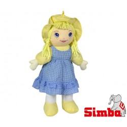 SIMBA Lalka Szmacianka 45 cm Niebieska
