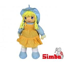 SIMBA Lalka Szmacianka 45 cm Pomarańczowa