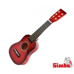 SIMBA MMW Gitara Drewniana Czerwona