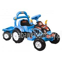 Traktorek na akumulator niebieski