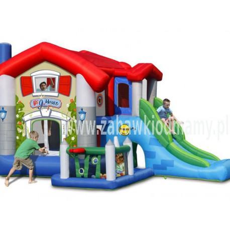 Dmuchaniec Wielki Dom HappyHop Trampolina Zjeżdzalnia Zamek Dmuchany