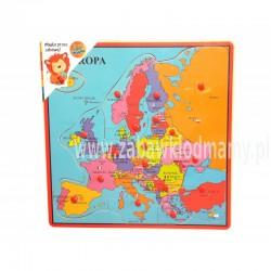 Playme Drewniana układanka Mapa Europy