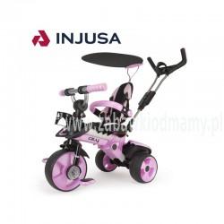 Injusa Rowerek Trójkołowy City Trike regulowany Ciche Koła 3 w 1 Różowy