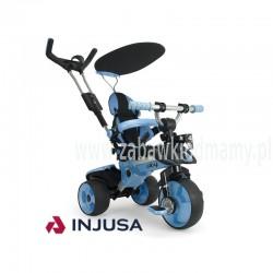 Injusa Rowerek Trójkołowy City Trike regulowany Ciche Koła 3 w 1 Niebieski