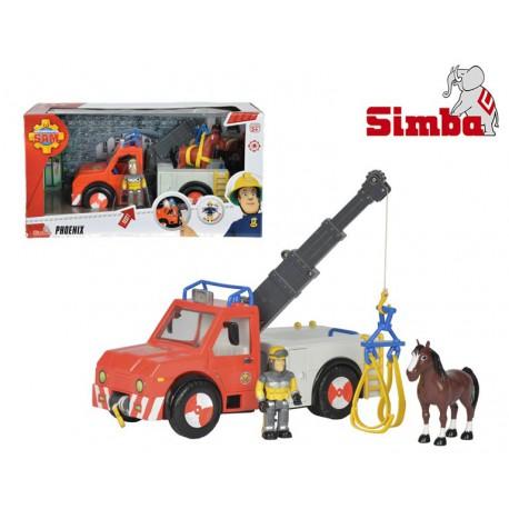 SIMBA Strażak Sam Pojazd Phoenix z Figurką