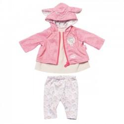 Baby Born Różowe Ubranko Dla Lalki Kaptur z Uszami