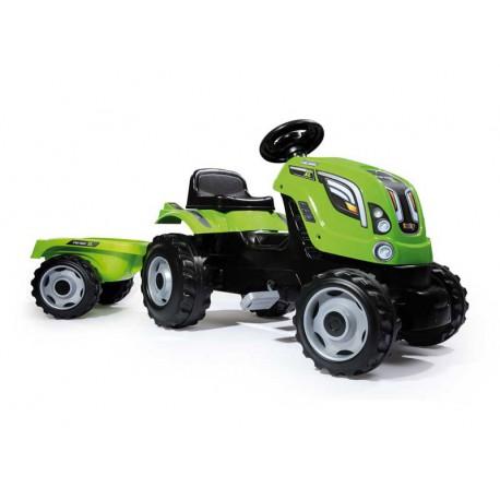 SMOBY Traktor z przyczepą FARMER XL zielony