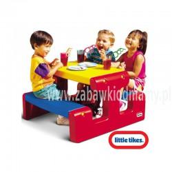 LT Stolik Piknikowy Stół Niebiesko Czerwony