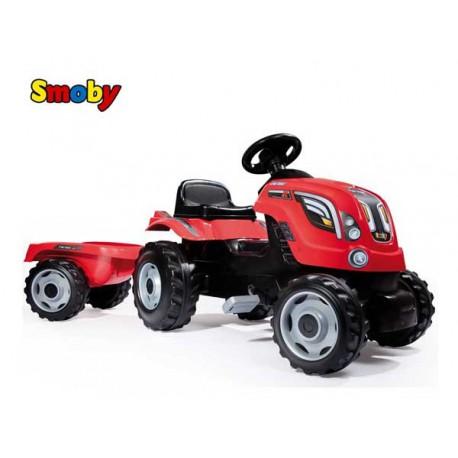 SMOBY Traktor z przyczepą FARMER XL czerwony