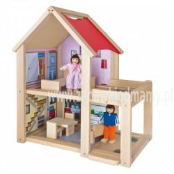Eichhorn mały drewniany domek dla lalek 9 elem.