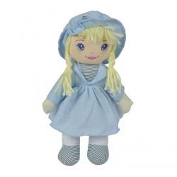 SIMBA Mała Lalka Szmacianka 33cm Niebieska