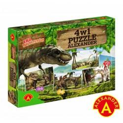 ALEXANDER Puzzle 4w1 Era Dinozaurów