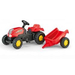 Rolly Toys Traktor Kid Czerwony z Przyczepą