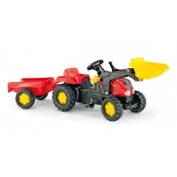 Rolly Toys rollyKid Traktor na pedały z łyżką i przyczepą 2-5 Lat