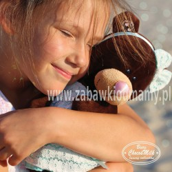 Przytulanka Stojąca Pani Milk w miętowej sukience - 30cm