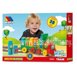Pociąg z literkami i cyferkami Molto Blocks 28 el.