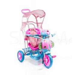 Rowerek trójkołowy dla dzieci pszczoła różowa