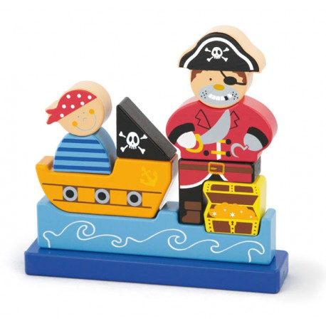 VIGA Klocki Magnetyczne Pirat