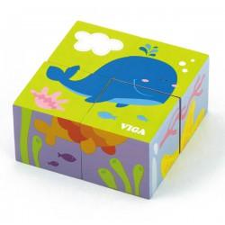 Drewniana układanka Morze Puzzle Viga Toys 4 klocki