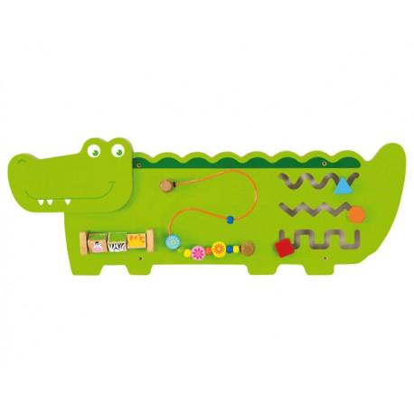 VIGA Sensoryczna Tablica Manipulacyjna - Krokodyl