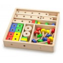 Drewniany zestaw konstrukcyjny Viga Toys 53 elementy w skrzynce