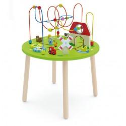 Drewniany Duzy stolik edukacyjny Farma Rollercoaster Viga Toys