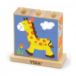 VIGA Kostki Logiczne - zoo
