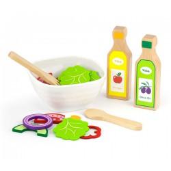 Viga Toys Zestaw Sałatkowy Warzywa Widelec Łyżka Sosy 36el