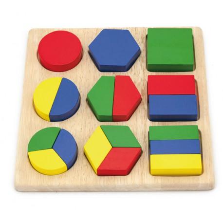 VIGA Drewniane Puzzle Kształtów