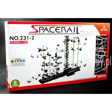 SpaceRail Tor Dla Kulek - Level 2 (10 metrów) Kulkowy Rollercoaster