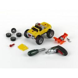 KLEIN Samochód do skręcania 3w1 z wkrętarką-żółty